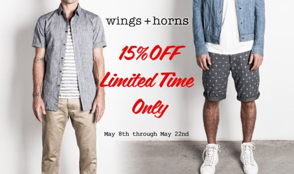 Wings + Horns 15%OFF